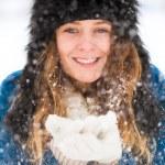 Pretty Winter Lady — Stock Photo
