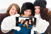 Girls Taking a Selfie — Stock Photo