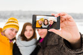 Girlfriends Selfies — Stock Photo