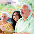 Happy Times in the Nursing Home — Stock Photo