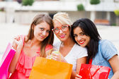 Beauties After Shopping — Stock Photo