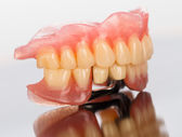 Prosthetic dental products — Stock Photo