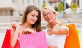 Beauties in the City Shopping — Stock Photo