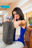 Thumbs up for Best Shopping Day Ever — Stock Photo