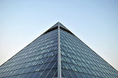Muttart Conservatory Pyramid in Edmonton Alberta — Stock Photo