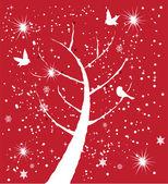Snow Tree — Stock Vector