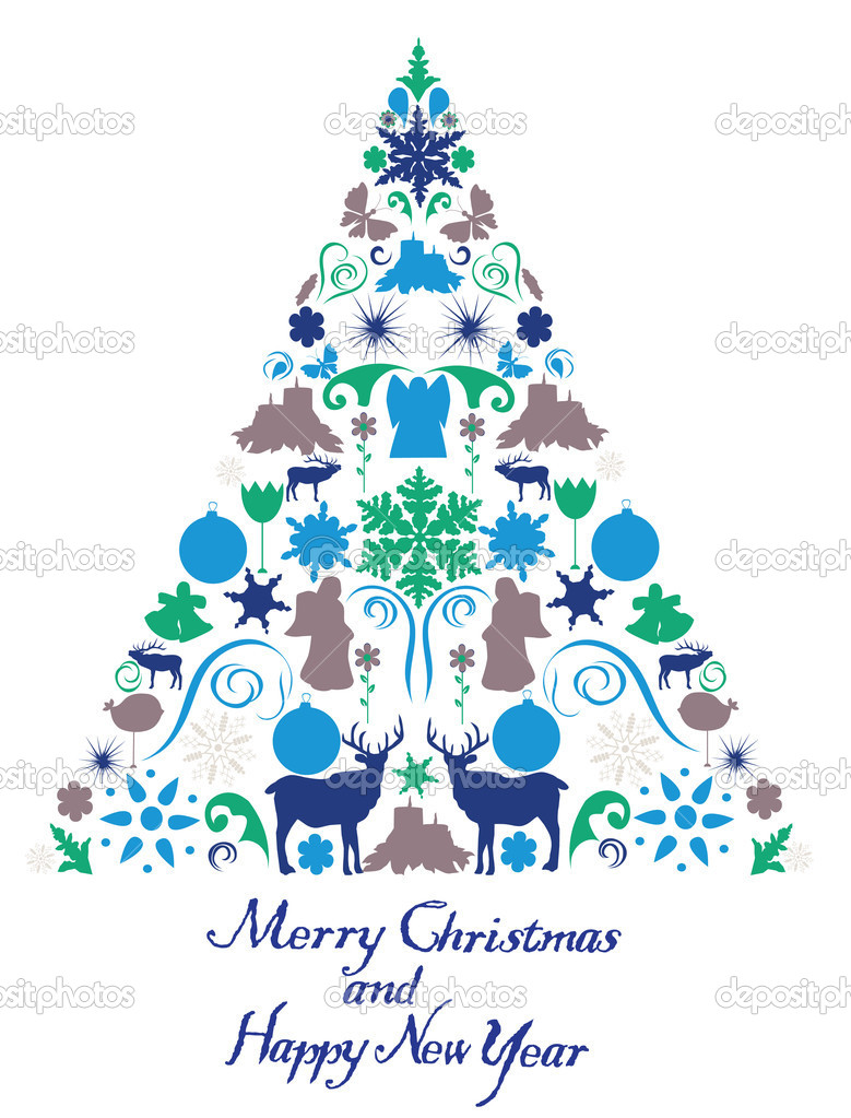 Vector Christmas tree — Stock Vector #15679619