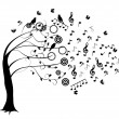 Stock Vector: Musical tree