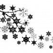 Snow Branch — Stock Vector