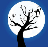 Katze im Baum — Stockvektor