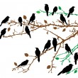 Birds and branches - Stock Vector