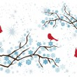 Snow Branches — Vector de stock