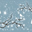 Snow Branches — Stock Vector