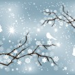 Snow branches — Stockvectorbeeld