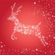 Stock Vector: Red reindeer