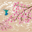 Cherry blossom — Vector de stock #16932193