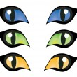 Cats Eyes — Stock Vector