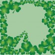 Shamrock frame — Stock Vector