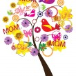 Mother's day tree — Stockvektor
