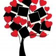 Tree with hearts - Image vectorielle