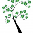 Shamrock Tree — Stock Vector
