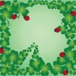 Shamrock frame - Stock Vector