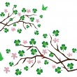 Shamrock branches - Stock Vector
