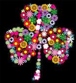 Floral shamrock — Cтоковый вектор