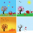 4 Seasons — Stock Vector #26111051