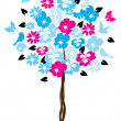 Stock Vector: Floral Tree