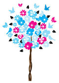 Floral Tree — Vector de stock