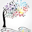 Music Tree — Stock Vector