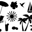 Tropical Icons — Stock Vector