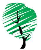 Abstrakt träd — Stockvektor