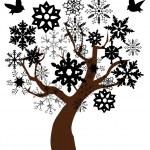 Snow tree — Stock Vector #30233911