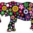 Floral Elephant — Stock Vector #30233797