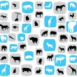 Animal patterns — Stock Vector