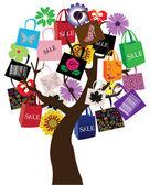 Sale tree — Stock Vector
