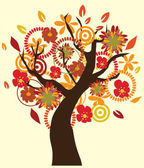 Fall Tree — Stock Vector