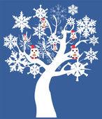 雪の木 — ストックベクタ