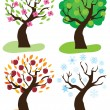 Apple Trees — Stock Vector