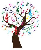 Music Tree — Stock Vector
