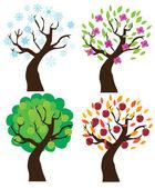 Season Trees — Stock Vector