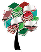 Books Tree — Vettoriale Stock