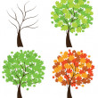 Seson Trees — Stock Vector