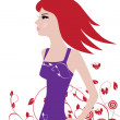 Red Hair — Stock Vector