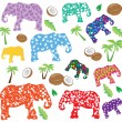 Elephants — Vettoriali Stock