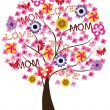 Stock Vector: Mother's Day Tree