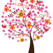 Mother's day tree — Stock Vector