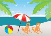 Playa — Vector de stock
